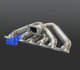 3mm tube thickness Turbo Exhaust Manifold For Nissan SKYLINE R32/R33/R34 RB20 RB25