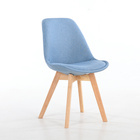 Dnning Chairs PP material plastic China with sky blue color
