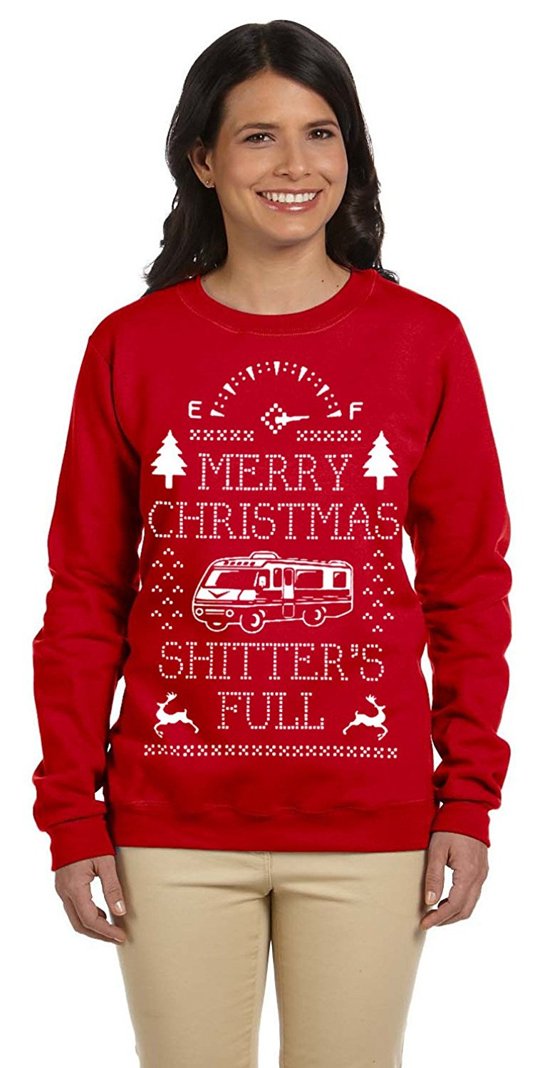 Buy Merry Christmas Shitters Full Womens Off Shoulder Sweatshirt In
