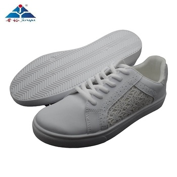 Top sale guaranteed quality custom made women white flat shoes