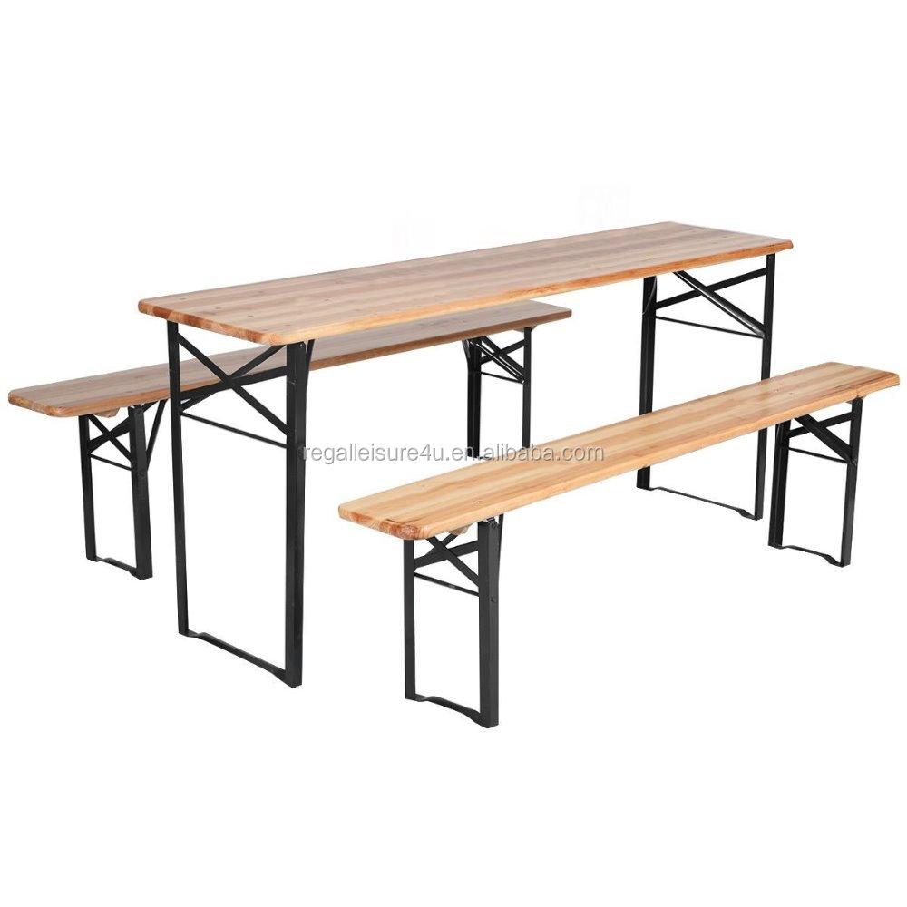 Astonishing 3 Pcs Beer Table Bench Set Folding Wooden Top Picnic Table Patio Garden Buy Beer Garden Table And Bench Bench Garden Patio Furniture Metal Tables Inzonedesignstudio Interior Chair Design Inzonedesignstudiocom