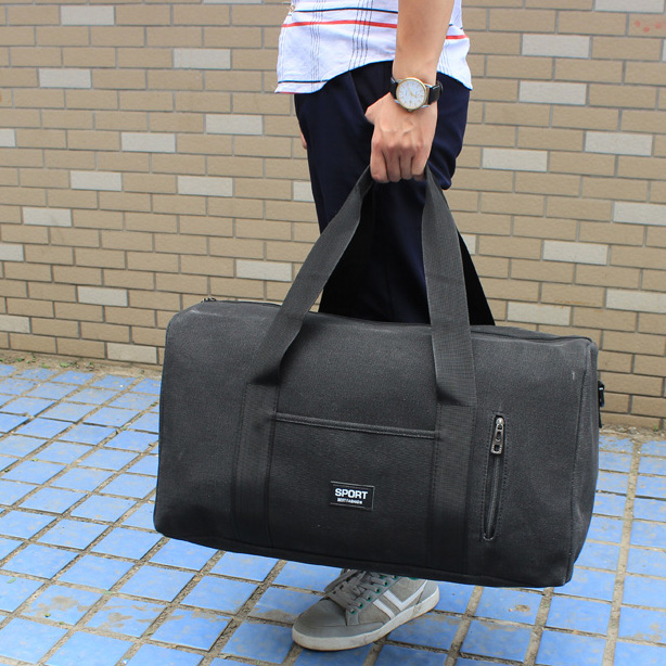 ROBBIE Wholesale Custom Logo Blank Canvas <strong>Shoulder</strong> Tote Sling Yoga Mat Travel Duffle Sport Bag for Men