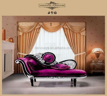 Elegant Princess Purple Chaise LoungeNeo Classic Rococo