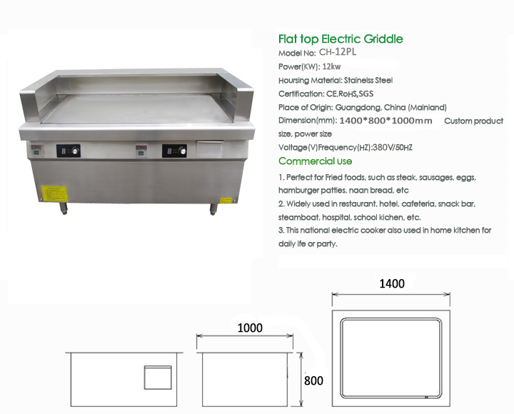 Restaurant Kitchen Equipment Dimensions commercial restaurant kitchen equipment huge power bbq griddle and