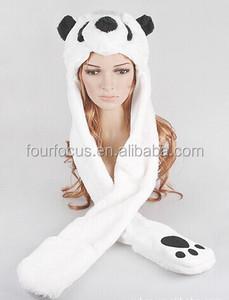 efba7009f06 Faux Fur Animal Hood Hat