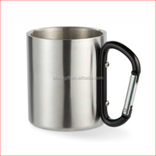 2017 Outdoor stainless steel travel mug with carabiner