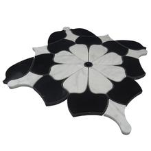 KB stone waterjet cutting flower shape mosaic tile pictures patterns