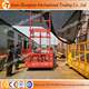 Building construction materials lift wall mounted hydraulic guide rail cargo lift product delivery platform wall mounted