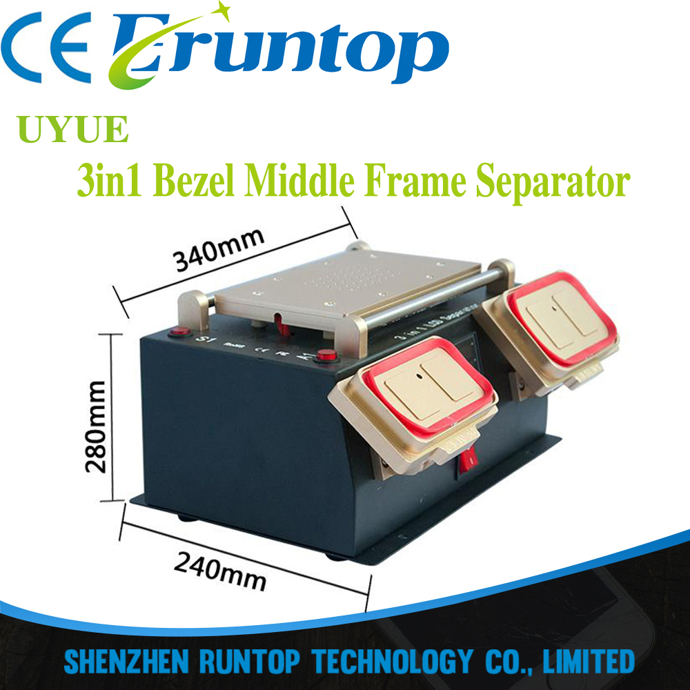 3 in 1 Multifunction Preheater Station+Bezel Middle Frame Separator Machine+Vacuum pump LCD Separator for Samsung LCD Refurbish