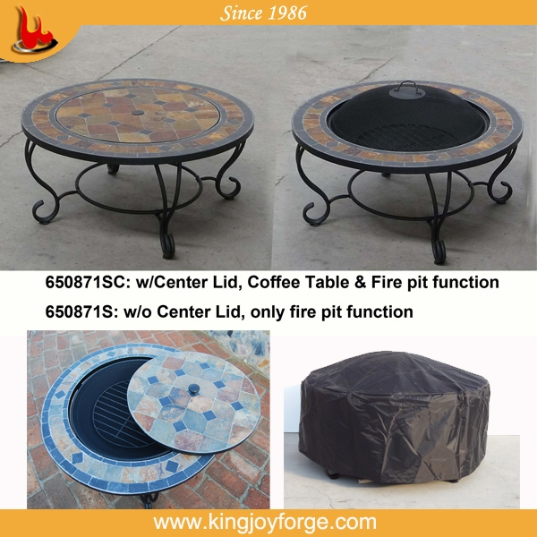 Wood Burning Fire Pit Table With Ceramic Tiles   Buy Fire Pit Table With  Ceramic Tiles,Outdoor Folding Slate Table,Outdoor Concrete Table With  Barbecue ...