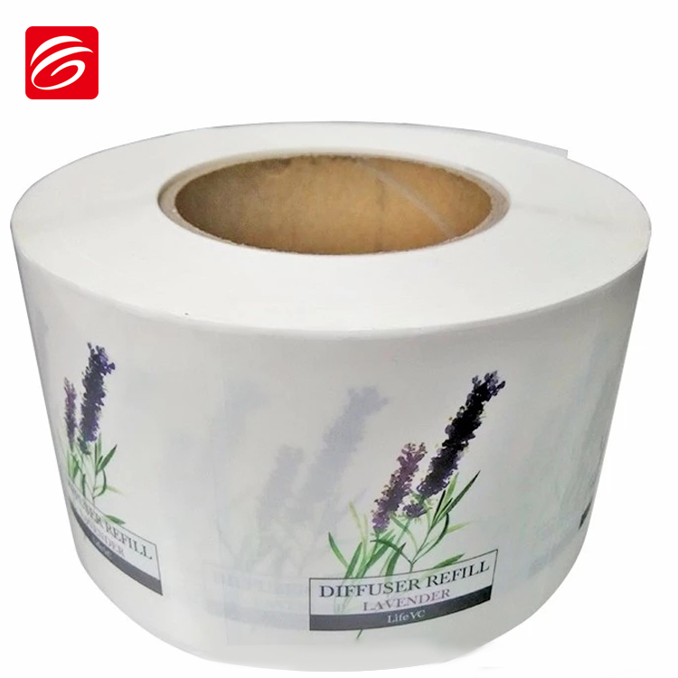 Custom Printed Waterproof Adhesive Roll Shampoo Bottle Label With Glossy Film Lamination