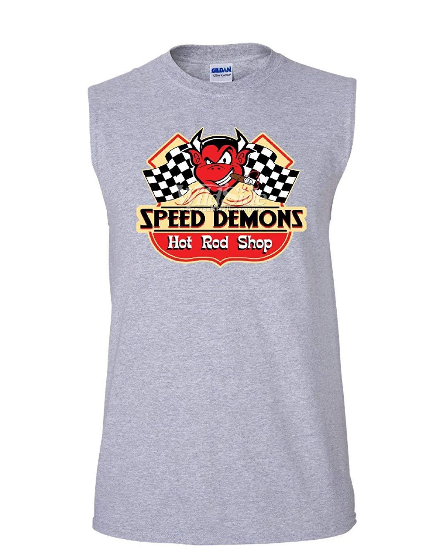 13997150 Get Quotations · Tee Hunt Speed Demons Hot Rod Shop Muscle Shirt Cigar  American Classic Racing Sleeveless