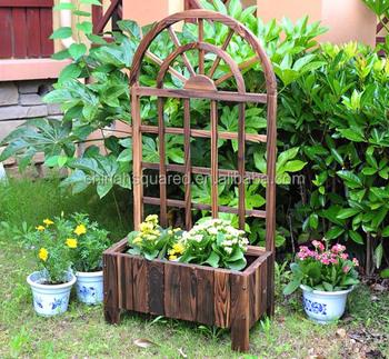 Large Folding Wooden Trellis Planter Box Lattice Planters Outdoor