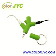 CI076 star earphone/headphone music splitter