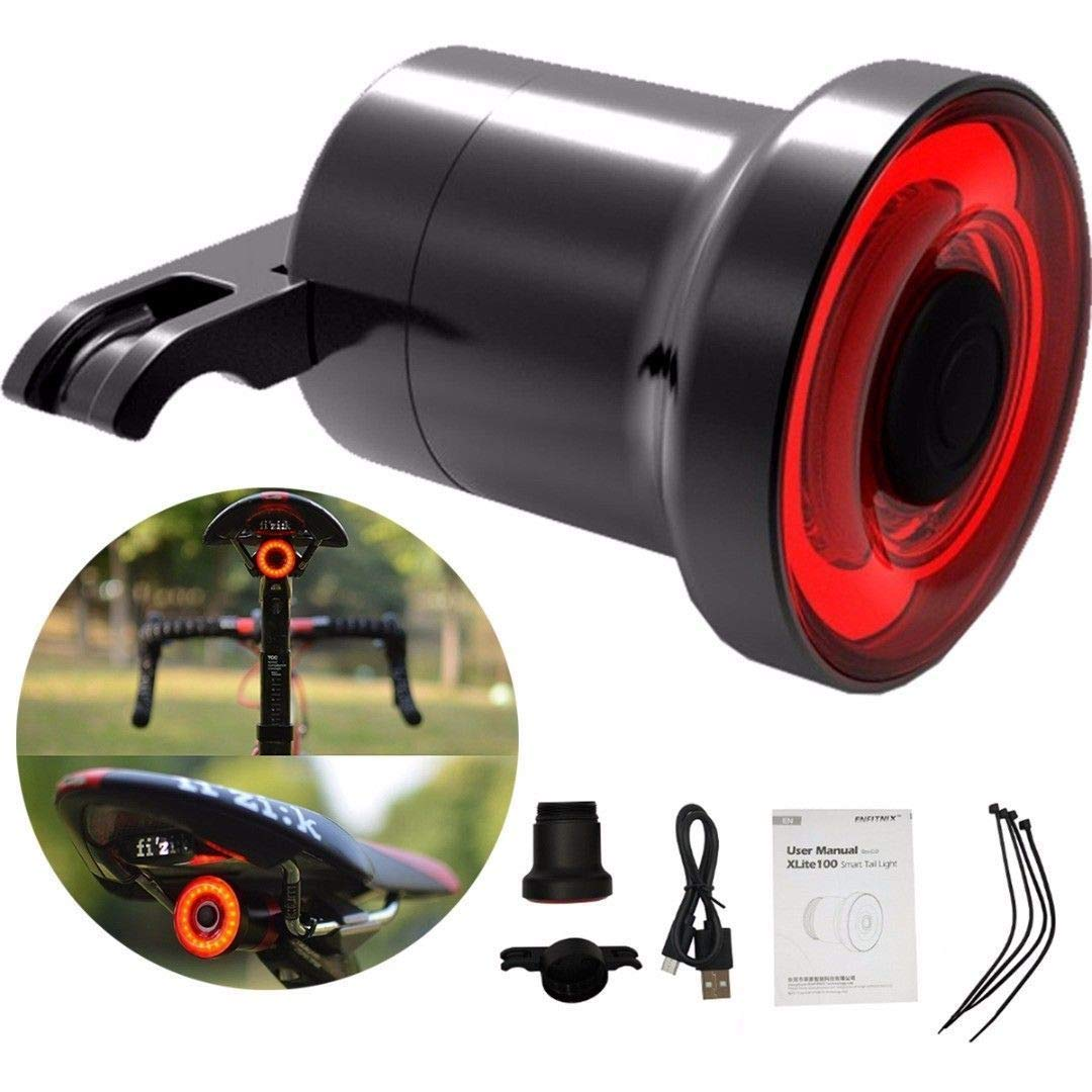 XLite100 Waterproof Bicycle LED USB Sense. IPX6 Waterproof USB Rechargeable Super Bright Led Bicycle Rear Tail Light. Smart Auto On-Off & Brake Sensing Cycling Safety Light for Mountain Bike Road Bike