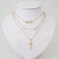 Fashion alibaba online shopping pendant beaded gold cross necklace for amazon top sell Wholesale N80000059