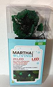 24 LED Battery-Operated Indoor Tree Lights - Green Tree-Shaped Bulbs