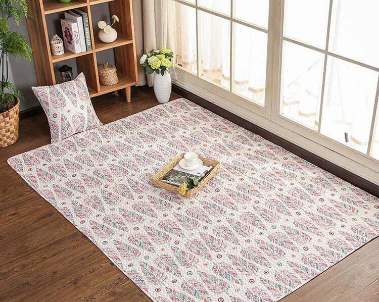 Luxury Patchwork Anti-slip Cotton Machine Washable Carpet Play Children Rug