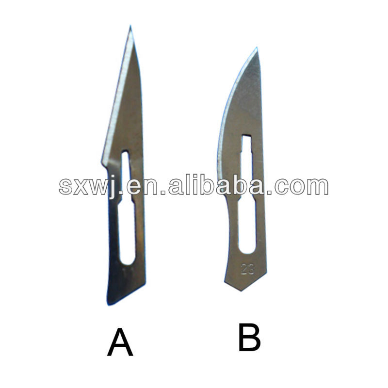 WJ701 veterinary Stainless Steel surgical sharp blade
