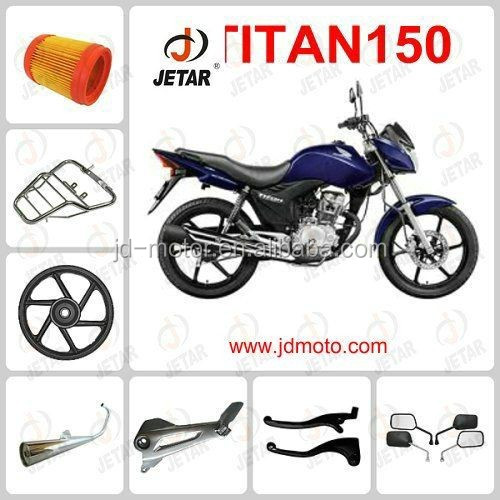 Motorcycle part TITAN 150 SPROCKET/SPEDOMETER/foot mat/mirror/kick stand for wholesale