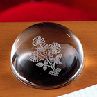 Wedding gift or souvenir crystal memento, best popular with logo engraved clear half ball crystal glass dome paperweight
