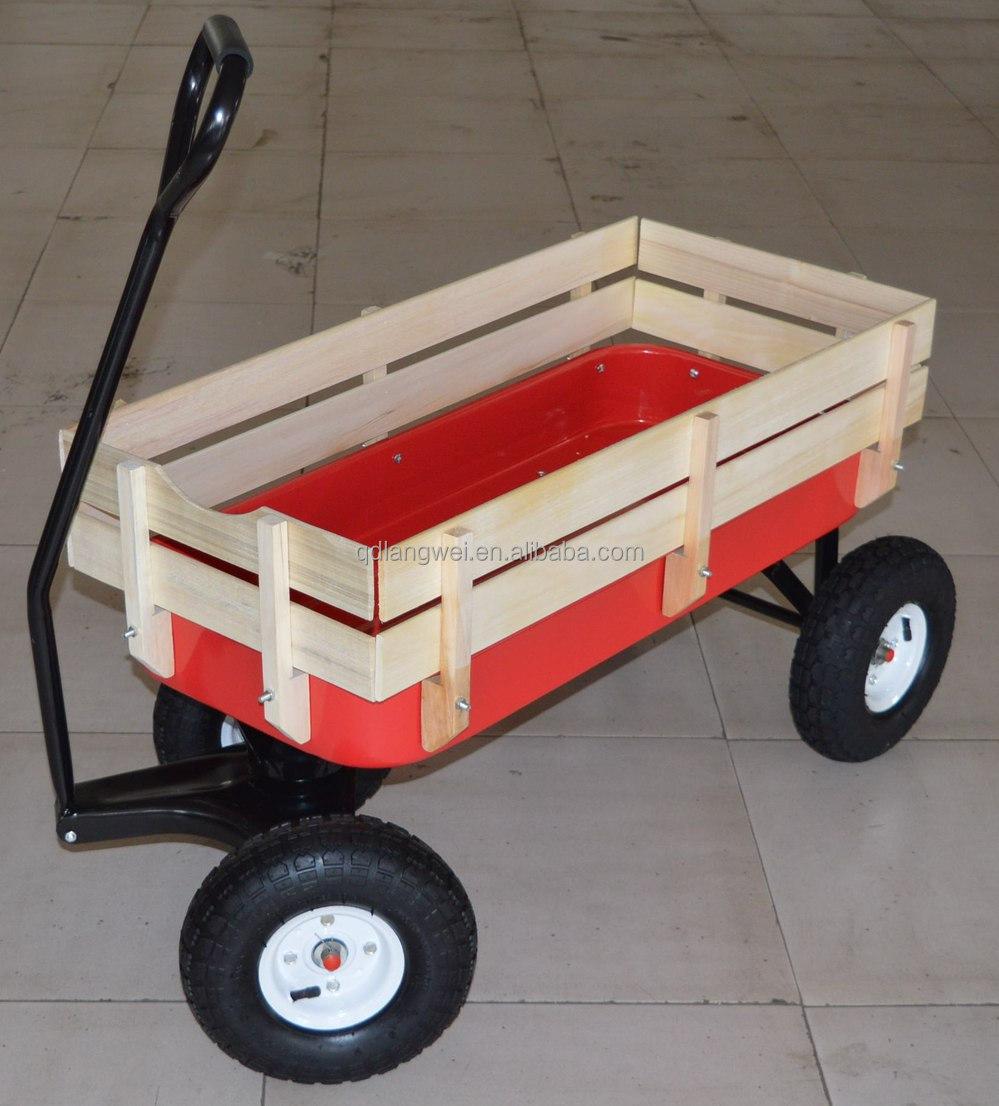 Pulling A Wagon : Wheel pull all terrain pulling wood wagon buy
