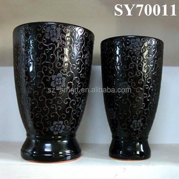 black pattern large indoor plant pots, View pattern large indoor ...