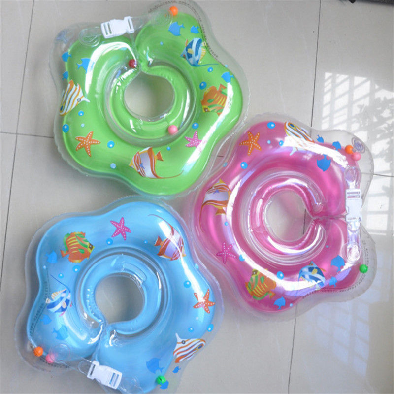 New Infant Baby Lap Swimming Baby Neck Float PVC Ring Inflatable Swimming Circle Neck Swimtrainer 2016