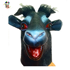 Halloween Party Costume Goat Latex Animal Head Masks HPC-3500