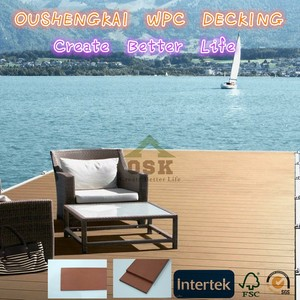 Good Price Solid WPC Decking Board OAK Embossed Design