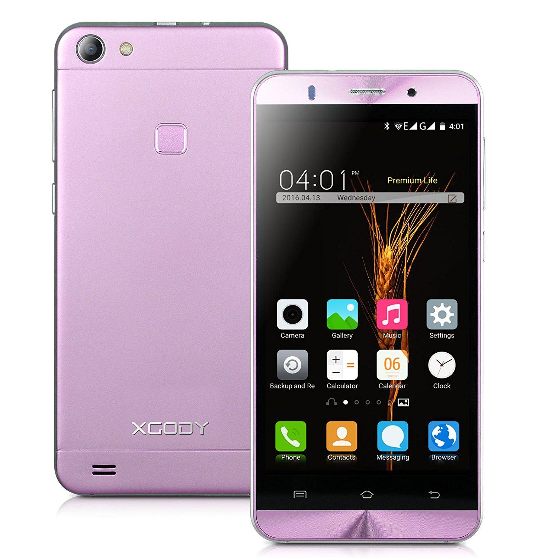 Xgody X15 5 Inch Android 5.1 Lollipop Cellphone Unlocked ROM 8GB+ RAM 1GB MTK6580 Telefonos Desbloqueados Dual Camera Support 2G/3G Network(Pink)