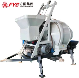 Mini portable foam trailer piston concrete mixer pump in India price in India with rubber end hose trailer pump