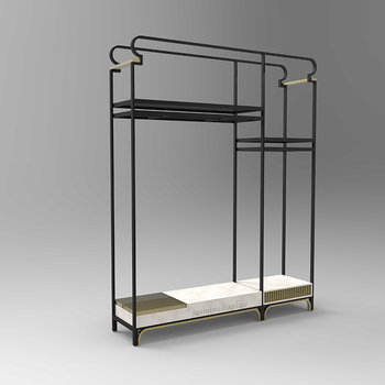 Metal clothes rack clothes display stand for shop