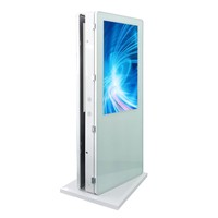 43 inch advertising playing equipment 1500 cd m2 outdoor lcd kiosk for hotels
