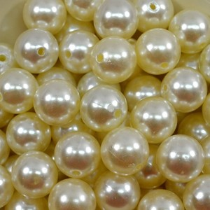 Wholesale Fashion 4MM, 5MM, 6MM, 8MM, 10MM, 12MM, 14MM, 16MM, 18MM,20MM, 23MM, 25MM, 30MM Plastic Pearls And Beads