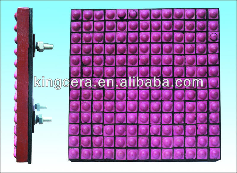 Alumina ceramic lining for the mining processing