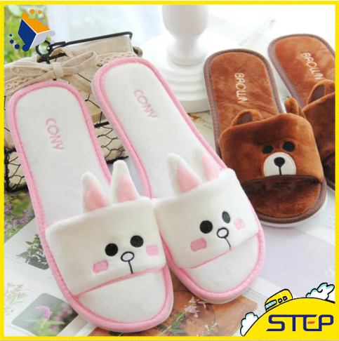 Line Friends Cony Brown Indoor Toe Exposed Slippers