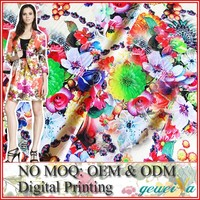 No MOQ OEM Digital Printing Knitted Cotton Textile Fabric