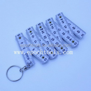 mini plastic folding ruler with key ring