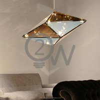 Manufacturer glass Chandelier, Vintage metal hanging Lamp bhombus glass Led Pendant Light