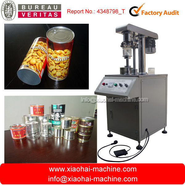canned food cans plastic sealing machine capping machine