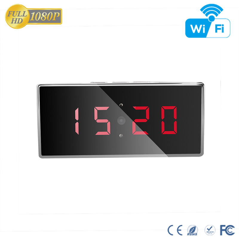 Aishine Hot 1.0Mega Alarm Clock Hidden <strong>Camera</strong> H.264 Pinhole Clock WiFi <strong>Camera</strong> Spy Gear With 5m Night Vision
