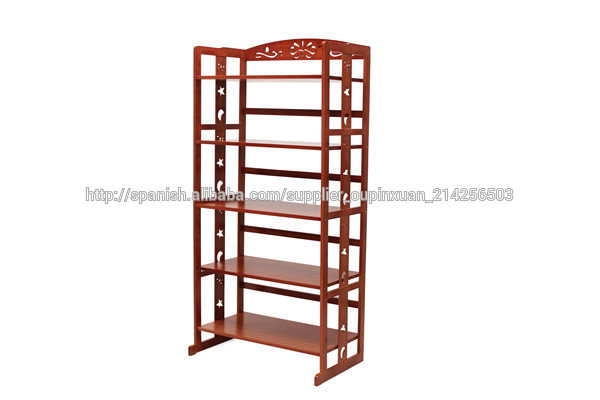 Chinos muebles para el hogar bamb antiguo horno de microondas estante para libros de - Estante microondas ...