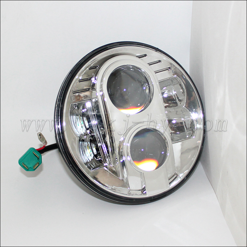 jeep wrangler 7inch led headlights brightest 9000lm h4 led headlight auto led h4