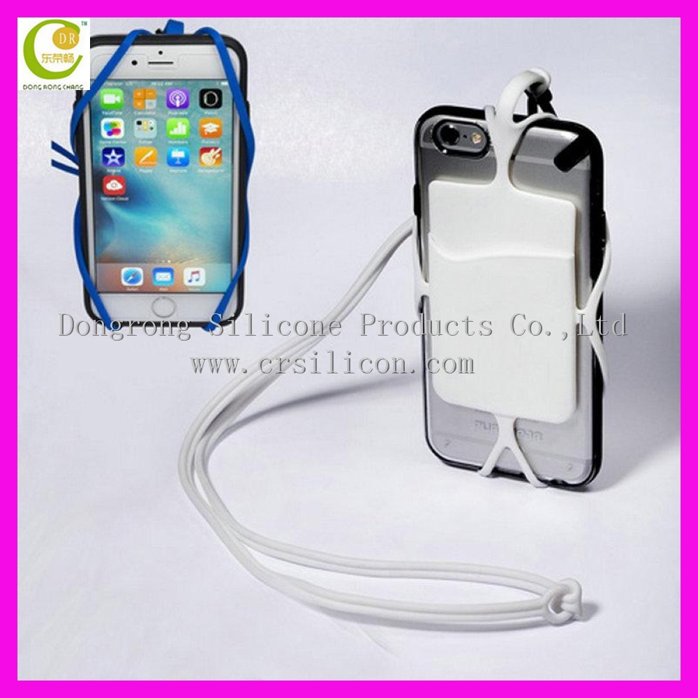Wholesale Silicone lanyard mobile phone holder credit card holder ...