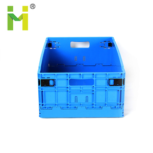 Sturdy plastic folding moving box plastic fruit vegetable packing crates for sale