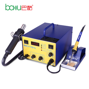 Factory price BAKU BK-701L LED Digital BGA Rework Station hot air gun with soldering iron for mobile phone