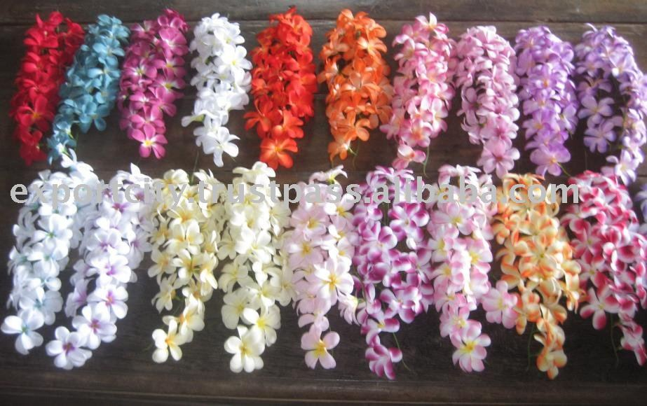 18 Flowers Bouquet Hawaiian Flower Lei,Leis Fabric Plumeria ...