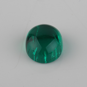 high quality columbian green 7x9mm oval shape raw emerald rough cutting loose synthetic hydrothermal emerald