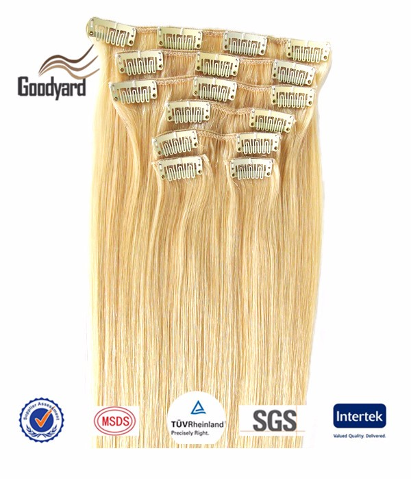 "Full Head 20"" 8 Pieces P27/613# Straight Clip in Remy Human Hair Extension for Sale"